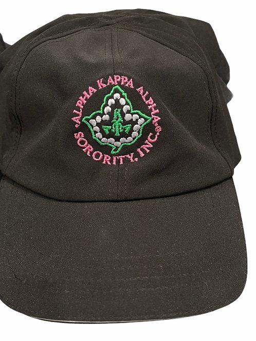 Black Nylon Ivy Leaf Hat