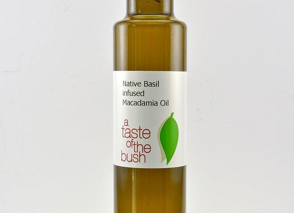 Native Basil infused Macadamia Oil