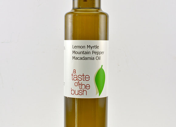 Lemon Myrtle Mountain Pepper infused Macadamia Oil