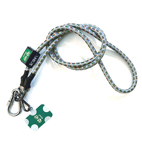 SCANFC bungee phone strap with phone tag (belief信念)
