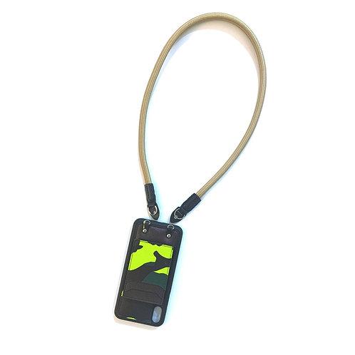 Phone strap rope light brown (short)