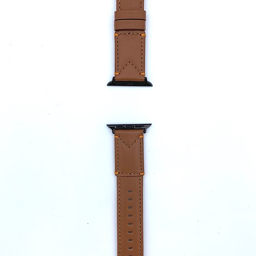 Genuine leather Apple Watch band - Brown