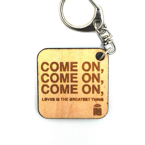 Wooden keychain Quote
