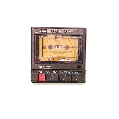 Cassette printed coaster
