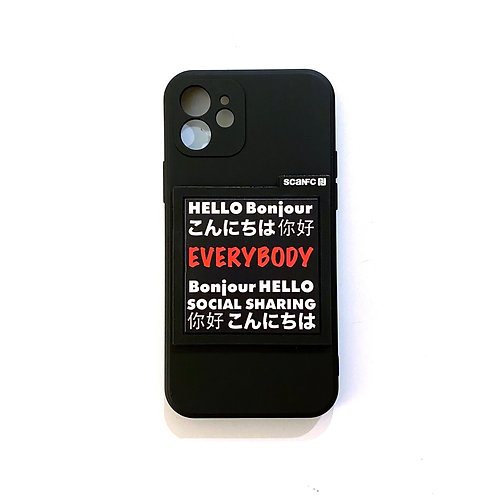 iPhone case #Socialsharing(bonjour)