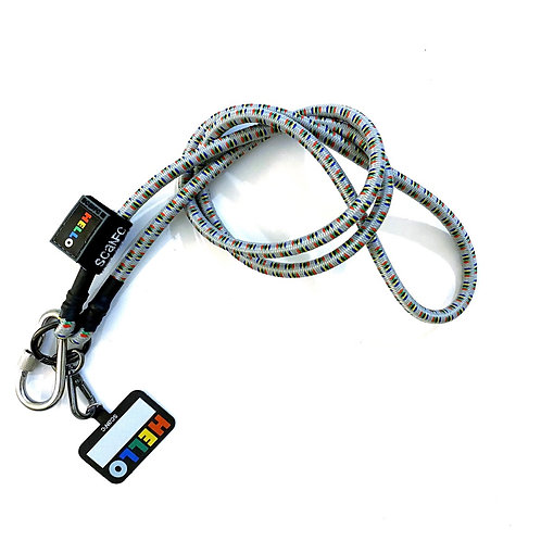 SCANFC Bungee mobile strap with phone tag (HELLO)