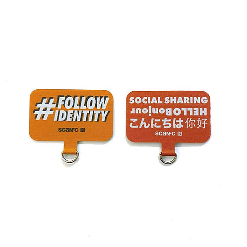 Connected Cell phone lanyard pad (#Follow ID)