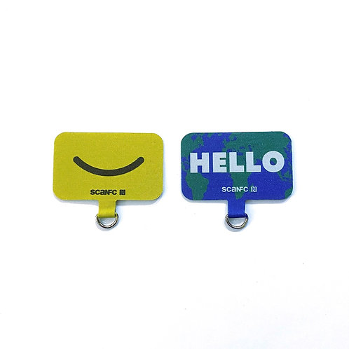 Connected Cell phone lanyard pad(Hello World)