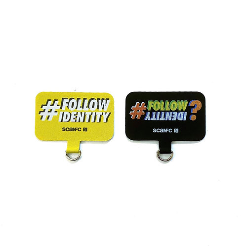 Connected Cell phone lanyard pad (#Follow Identity)