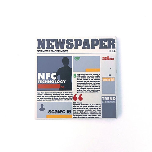 Portable newspaper printed absorbent diatomite Coaster