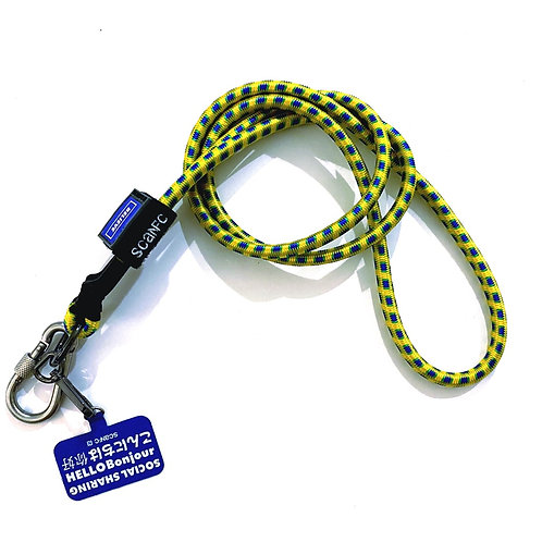 SCANFC bungee crossbody phone strap with phone tag (Yellow)