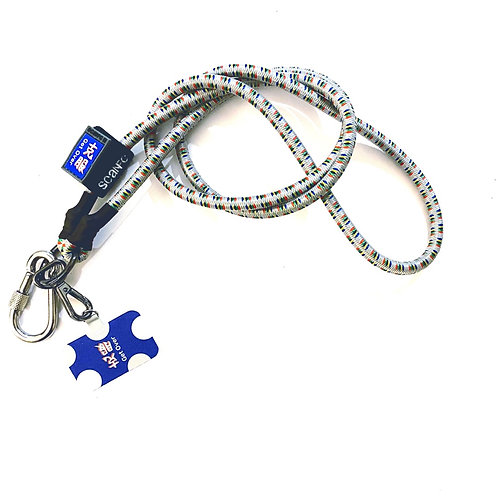 SCANFC bungee mobile strap with phone tag(Get Over克服)