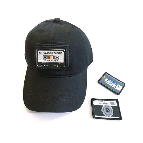 Scanfc cap with set of NFC patches