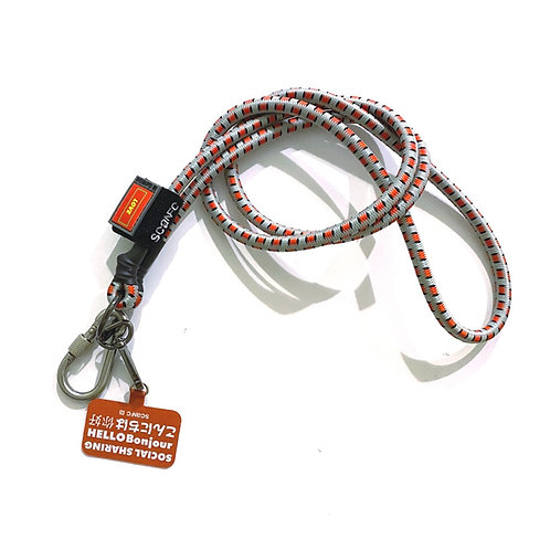 SCANFC bungee crossbody phone strap with phone tag (Grey)