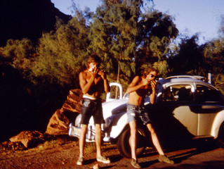 Watermelon after the 6th Ascent of Castleton Tower in 1971