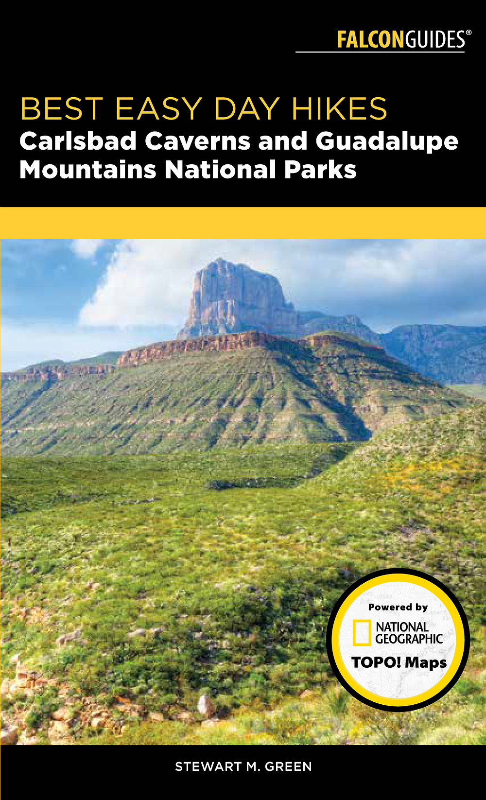 Cover of my new book BEST EASY DAY HIKES CARLSBAD CAVERNS AND GUADALUPE MOUNTAINS NATIONAL PARKS.