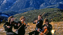 The Hills were Alive with the Sound of Music: Photo of the Da Vinci Quartet in 1982