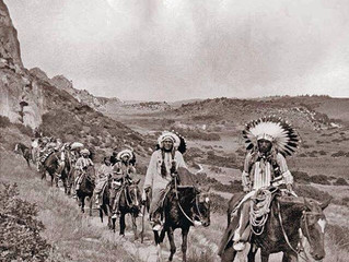 1912: Ute Indians Ride Through Garden of the Gods on old Ute Trail