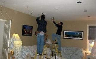 Owner's David Jr & Donlad Hoy Installing Recessed Lights