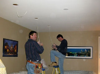 Owner's r & Donald Hoy Installing Recessed Lights