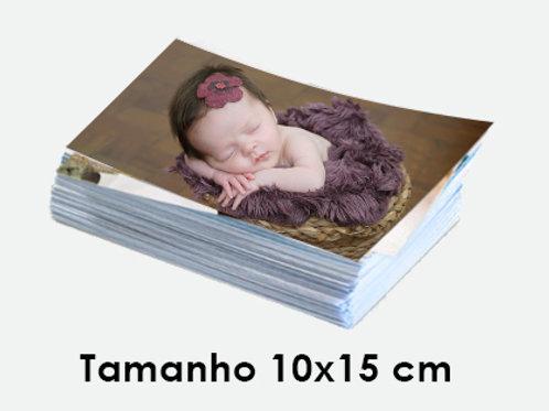 100 fotos impressas no tamanho 10x15cm