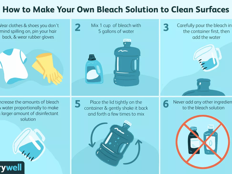 How to Make Your Own Disinfectant Bleach Solution