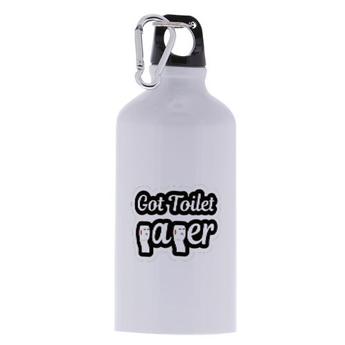 """Got Toilet Paper "" 17oz. Aluminum Sports Bottle (white)"