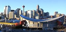 Calgary-foreground-Pengrowth-Saddledome-