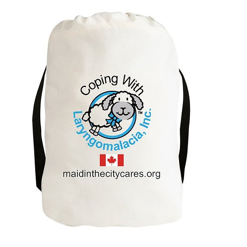 Coping With Laryngomalacia Canvas Drawstring Backpack