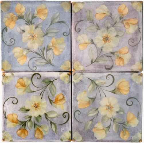 ENGLISH FLORAL SERIES  combining wallpaper repeat topped with growing flowers and leaves