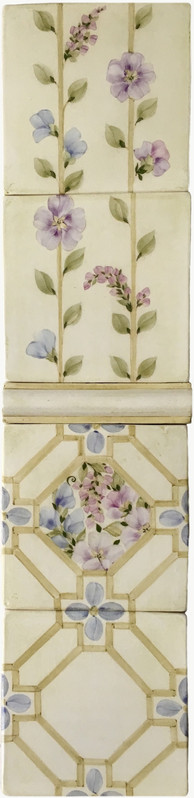 Cross Lattice Wallpaper Panel