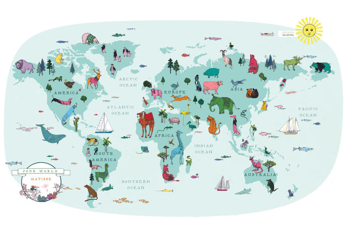 Self-initiated hand-drawn and digitally remastered world animal map. Click here to purchase a print