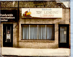 Exterior shot of the toy library's original location