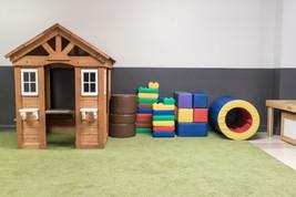PTLL interior, play house, large plastic blocks, soft blocks, tunnel