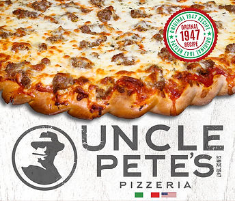 Uncle Petes Pizza logo