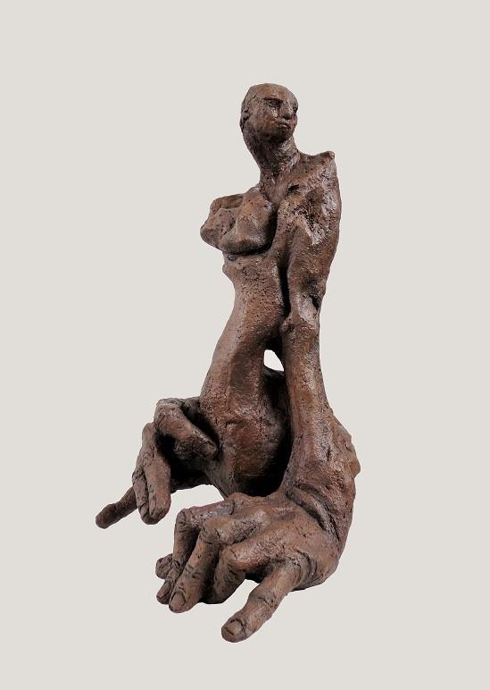 Caroline CHOPIN, Attente, grès cérame, 39/28/11 cm