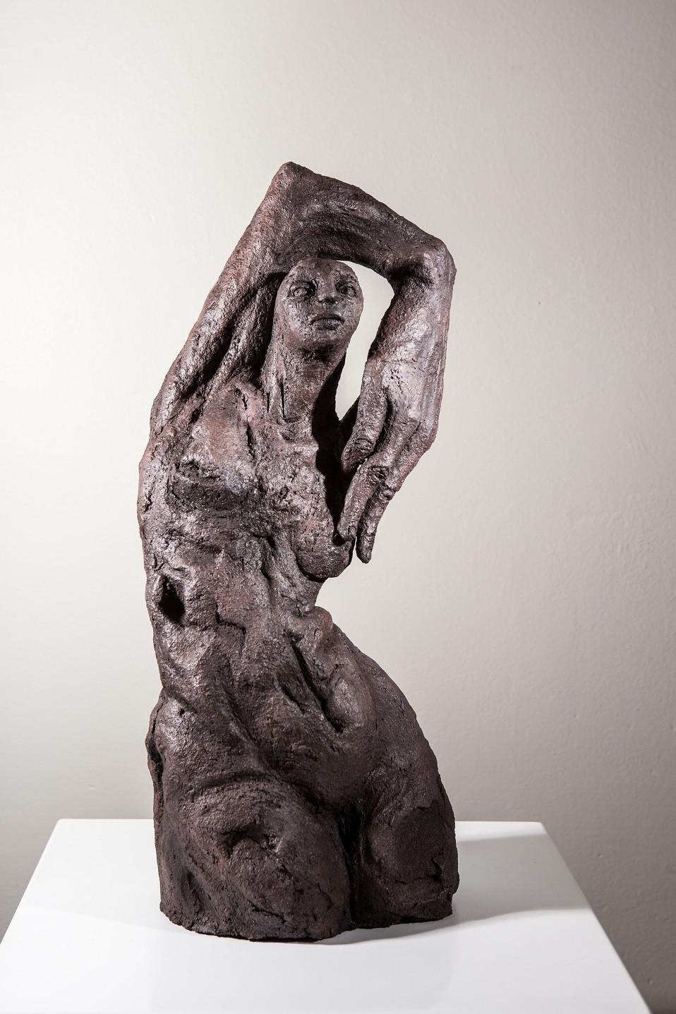 Caroline Chopin, Intimité, grès cérame, 50/21/17 cm, photographie Bénédicte Deleplanque