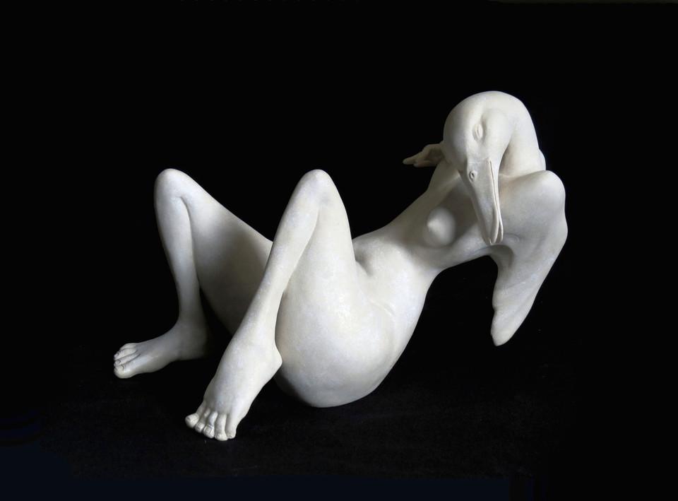 Chopin Caroline, Léda, porcelaine, 24/16/14 cm