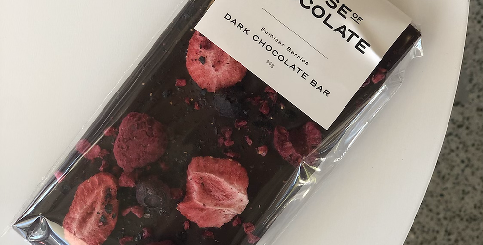 Summer Berries - Dark Chocolate Bar