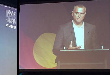 The Point's Stan Grant speaks at suicide prevention conference