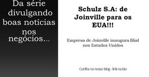 Schulz S.A: de Joinville para os EUA!!!