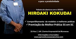 Ápice Educação Executiva promove palestra do Sensei Hiroaki Kokudai em SC
