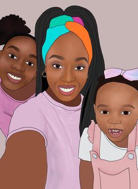 digital illustration - the kabs family.j