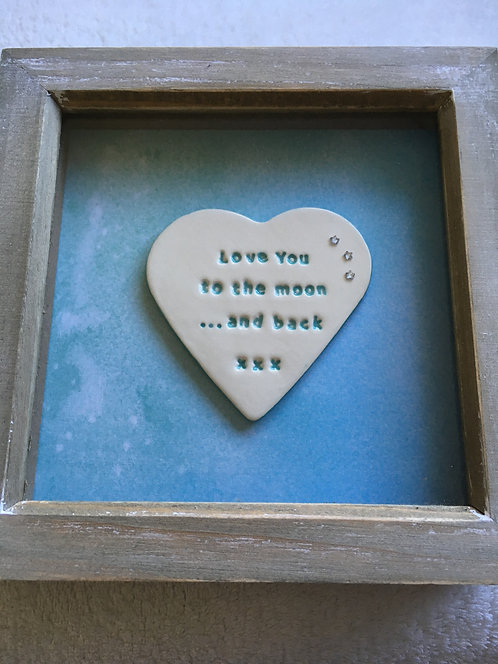 Love You to the moon Small Frame