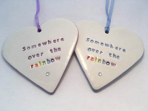 Somewhere over the rainbow Heart Hanger