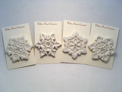 Christmas Snowflake Brooch