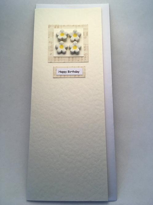 Small Daisy Happy Birthday Card