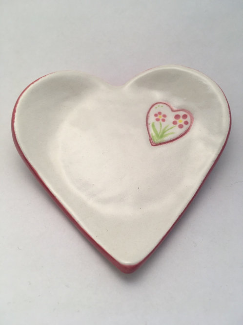 Pink Heart Dish