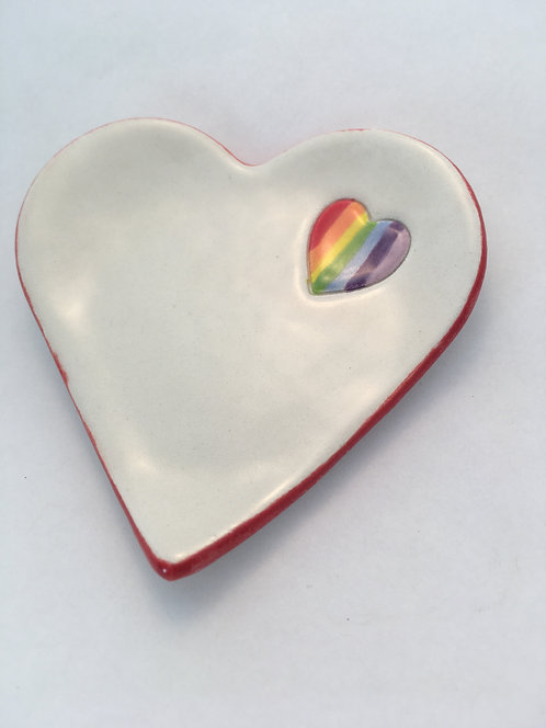 Rainbow Heart Dish