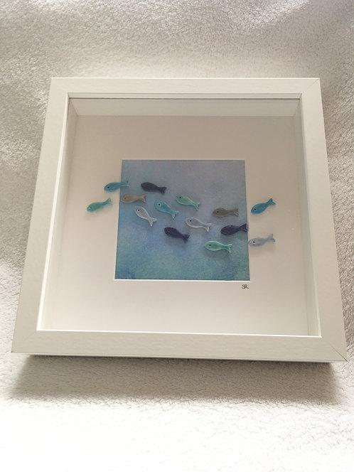 Fish Large Frame (pastel background)